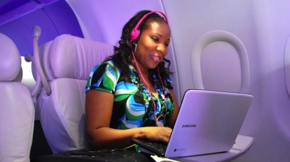 سرویس جدید اینترنت با سرعت 60Mbps در هواپیما