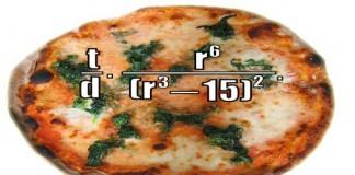 پیتزا و فورمول ریاضی