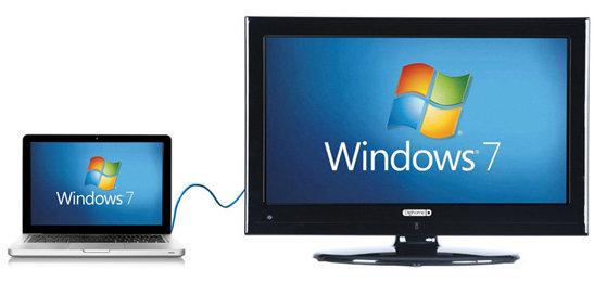 اتصال کامپیوتر به تلویزیون