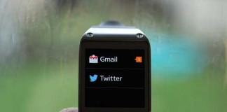 پشتیبانی Galaxy Gear از توییتر، فیس بوک و جی میل