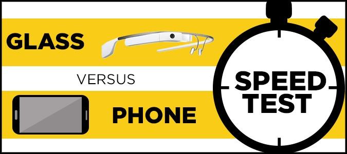 گوگل گلاس یا تلفن های هوشمند؟ کدام سریعتر است؟