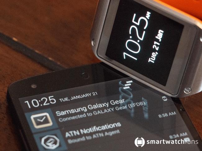 پشتیبانی Galaxy Gear از Nexus 5
