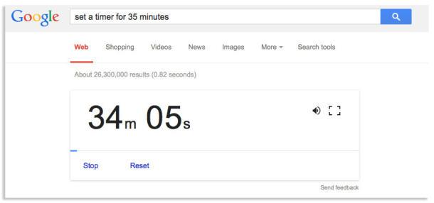 ویژگی های جالب گوگل : از گوگل به عنوان تایمر استفاده کنید.