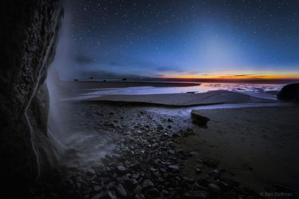 آبشار زیبا در ساحل اورگان