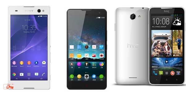جدیدترین گوشی های هوشمند 2014 ماه جولای
