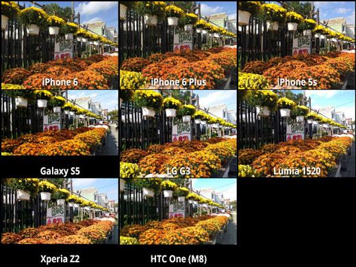 تصاویر دوربین گوشی های برتر 2014