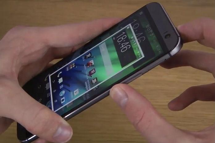 چگونه از صفحه نمایش گوشی HTC One M8 عکس گرفته می شود؟
