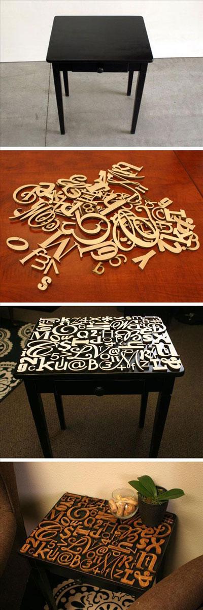 ایده جالب میز حروف الفبا