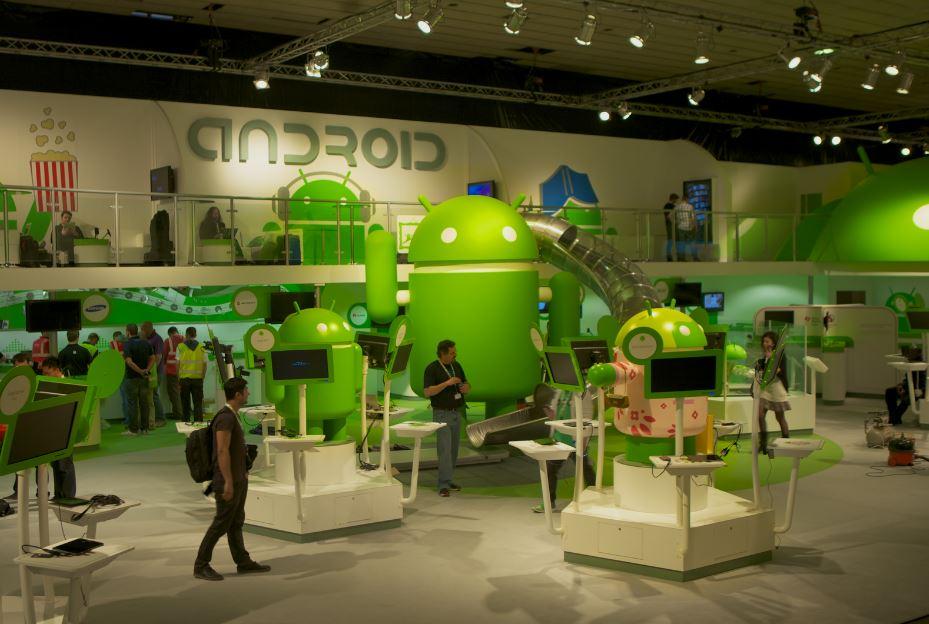 غرفه اندروید در کنگگره بزرگ موبایل در شهر بارسلونا