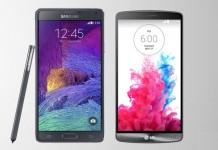 بررسی و مقایسه ی Samsung Galaxy Note 4 و LG G3