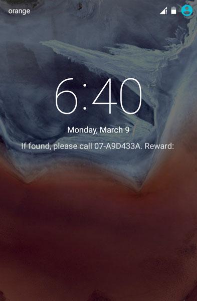 %name اضافه کردن اطلاعات فردی بر روی صفحه قفل اندروید