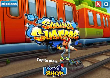 بازی Subway Surfers (موج سواران مترو)