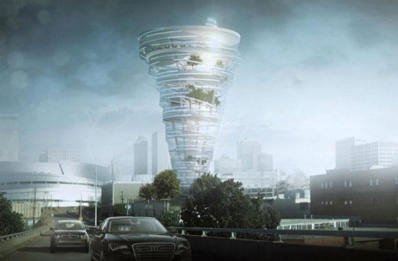 زوم شو : شبیه سازی توفان تورنادو در طراحی یک برج عظیم جثه
