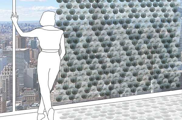 نمای ساختمان هوشمند برای خنک نگه داشتن داخل ساختمان