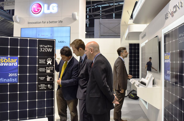 نمایشگاه Intersolar-Europe-Award - پنل های خورشیدی ال جی