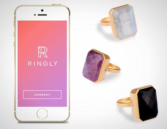 انگشتر ringly شما را از اعلان هایتان با خبر میکند- زوم تک