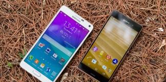 مقیاسه Samsung Galaxy Note و Sony Xperia Z3