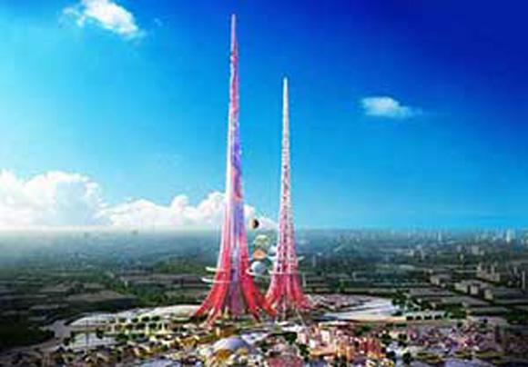 برنامه ساخت بلندترین برج های دوقلو در چین