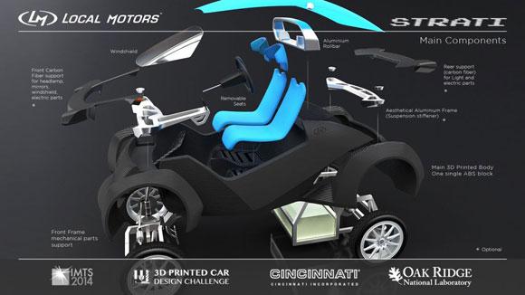 Local Motors  امیدوار به فروش ماشین های ساخت پرینتر سه بعدی در سال آینده است