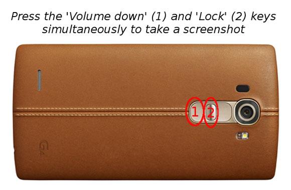 چگونه در LG G4 اسکرین شات بگیریم؟