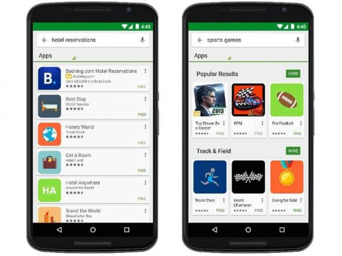 Google Play برنامه های تبلیغاتی را در نتایج جستجویش نشان میدهد