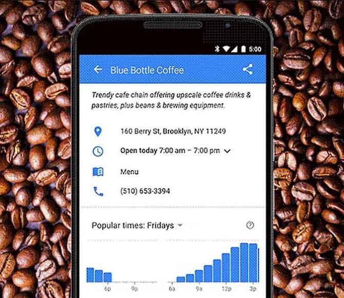 گوگل به کاربران کمک میکند از شلوغی در مکان های عمومی دوری کنند