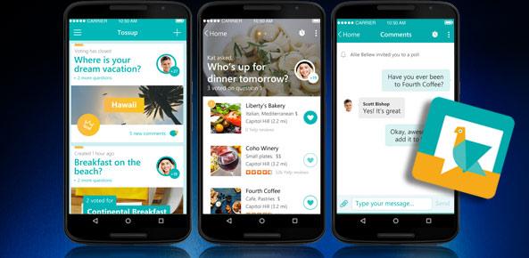 اپلیکیشن Tossup ، کمک در تصمیم های گروهی