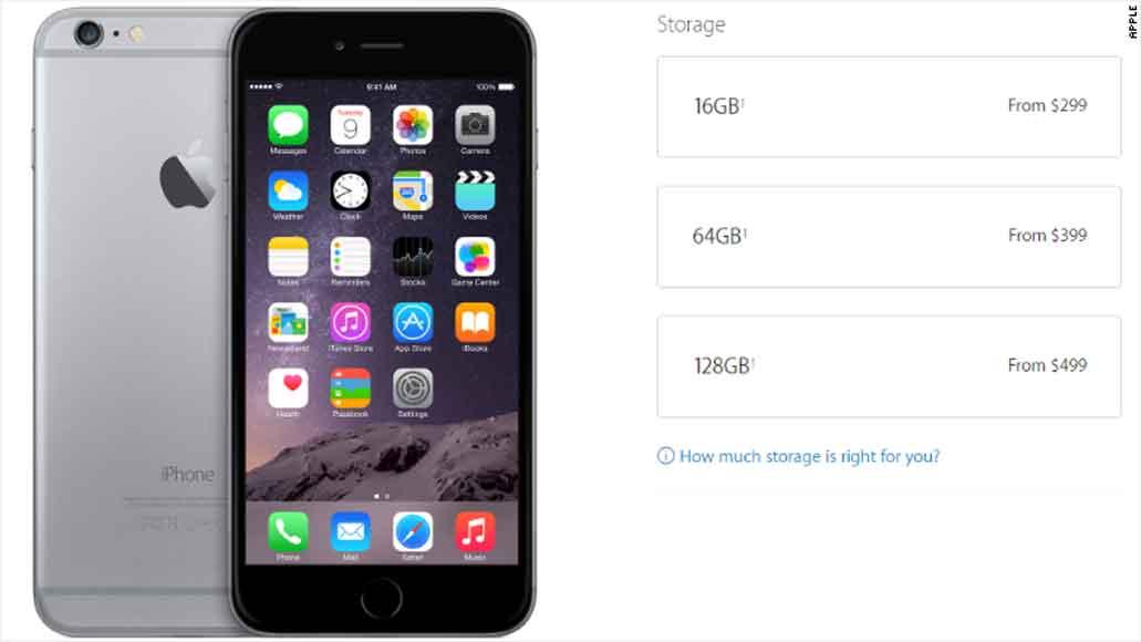 بزرگترین دزدی در گوشی های همراه : 100 دلار برای 32 گیگ حافظه