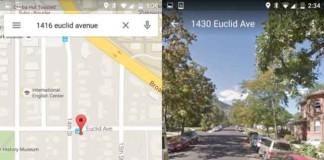 آخرین ورژن نقشه ی گوگل اندروید دسترسی سریع به حالت نمایش خیابانی را دارد