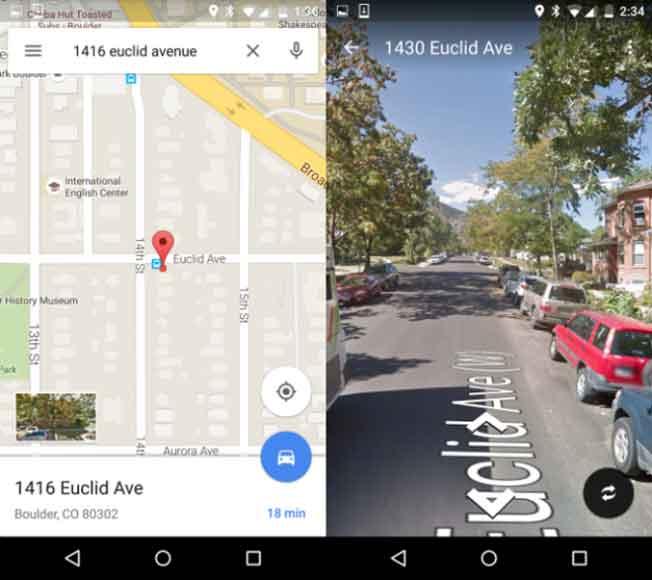 آخرین ورژن Google Maps  دسترسی سریع به حالت نمایش خیابانی را ایجاد کرده
