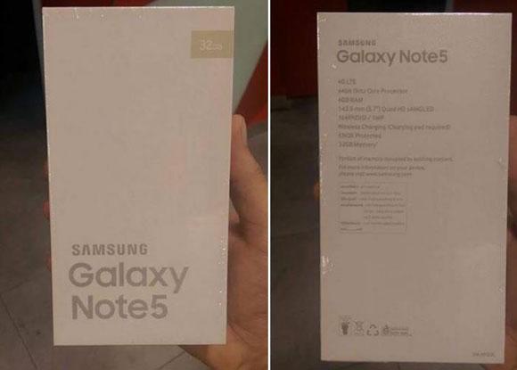 جعبه سامسونگ Note 5 لو رفت !