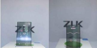 برند Zuk از کمپانی Lenovo نمونه ایی از گوشی های شفاف را به نمایش می گذارد