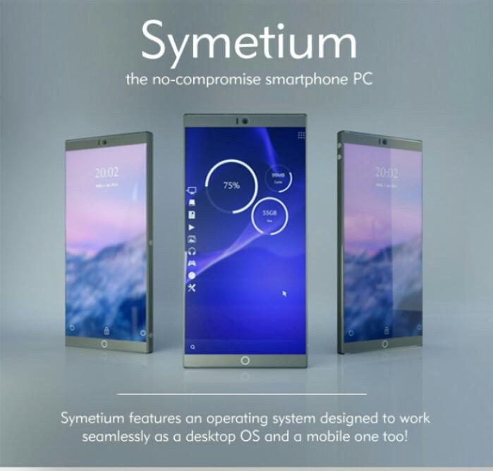 عرضه اسمارت فون خیره کننده Symetium با 6 گیگابایت رم