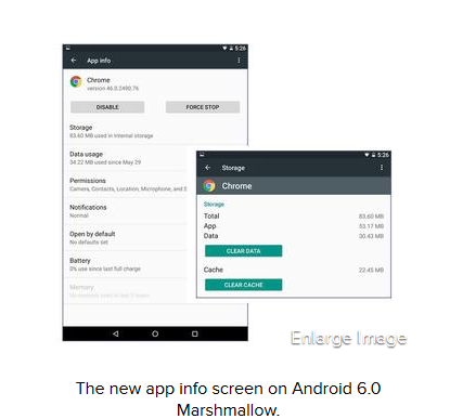android 6 application setting