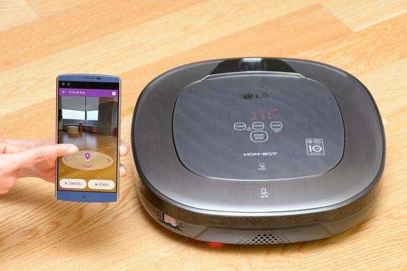 روبات جاروبرقی ال جی که می توانید با گوشی خود آنرا کنترل کنید