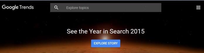 چه کلماتی در سال 2015 بیشتر در گوگل جستجو شده است