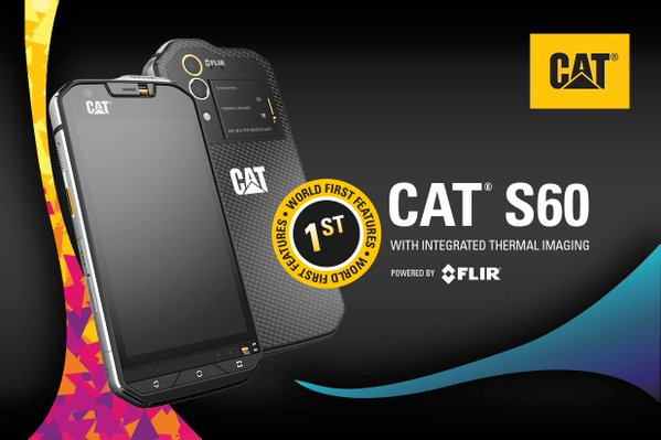 Cat S60،اولین گوشی مجهز به دوربین حرارتی