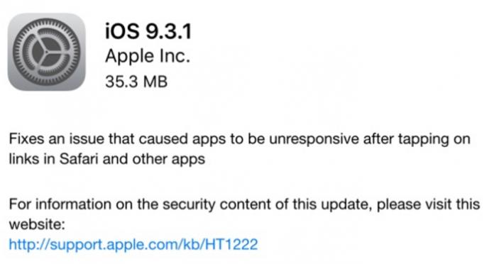 IOS 9.3.1 منتشر شد