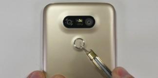 تست مقاومت فیزیکی گوشی ال جی جی 5
