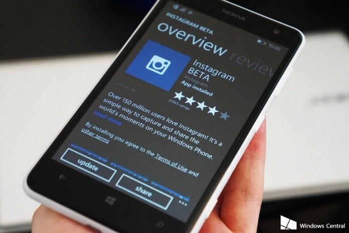 نسخه ی بتای نرم افزار اینستاگرام بر روی Windows Store