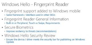 پشتیبانی ویندوز 10 موبایل از سنسور اسکن اثر انگشت