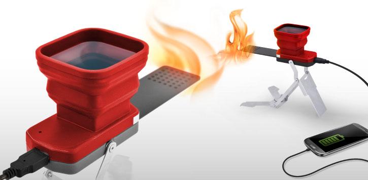 با استفاده از شارژ FlameStower Fire گوشی خود را با استفاده از آتش شارژ کنید !