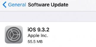 مشکلات IOS 9.3.2