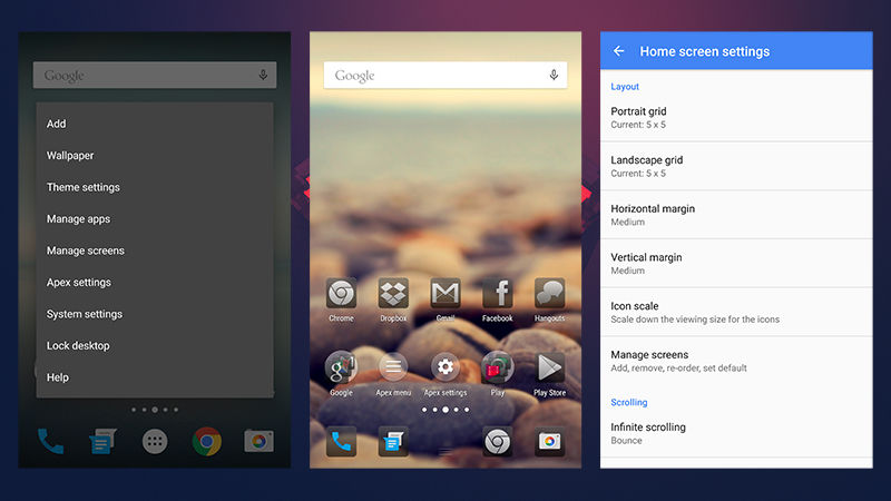 7 Android Launchers-APEX