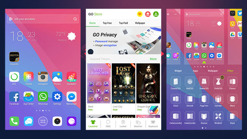 7 Android Launchers-GO
