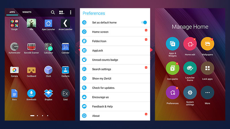7 Android Launchers-ZENUI