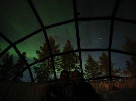 کلبه اسکیمو ها هتل روستای Kakslauttanen در فنلاند