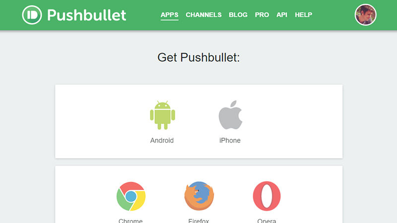 Setting up Pushbullet