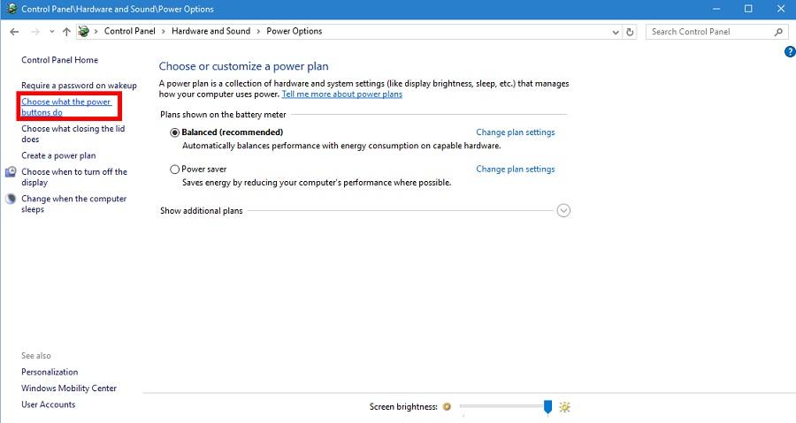 افزودن Hibernate به آیتم های پیش فر ضOptions در ویندوز 10