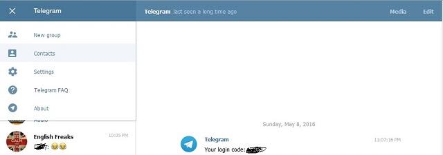 حذف مخاطبان تلگرام